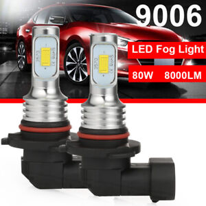 Isincer 9006 Hb4 80w 8000lm 6000k Led Headlights Bulbs Hi Lo Beam White Upgrade
