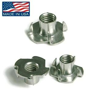 T nut Tee Nuts 1 4 20 4 prong 302 Stainless Steel 12