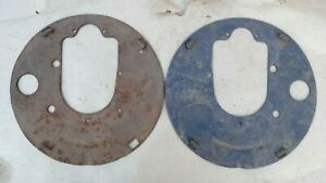 1926 1927 Model T Ford Rear Backing Plates Original Pair Large Drum