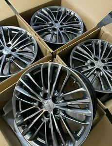 Four Genuine Gm Cadillac Cts V 20 Wheel Aluminum Midnight Silver Rims 84129744
