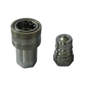 Iso 7241 a Hydraulic Quick Release Coupling 1 Inch Npt 3000psi 50gpm