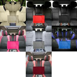 Ultra Comfort Faux Leather Full Car Set Seat Cushions W Anti slip Dash Mat