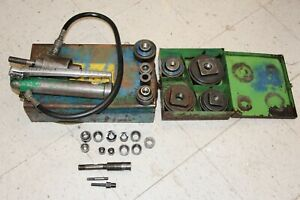 Greenlee 7306 Hydraulic Knockout Punch Driver Set 767 746 With Extras