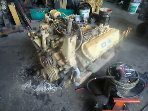 Caterpillar 3208 Diesel Engine Runs Exc Video Cat Industrial V8 1160