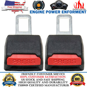 2pcs Car Safety Seat Belt Buckle Alarm Eliminator Extension Clip Fault Canceller