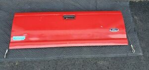 93 05 Ford Ranger Tail Gate Straight Bed Red Oem Used