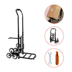 Portable Stair Climbing Cart 330lbs Capacity Hand Truck Heavy Duty With 6 Wheels
