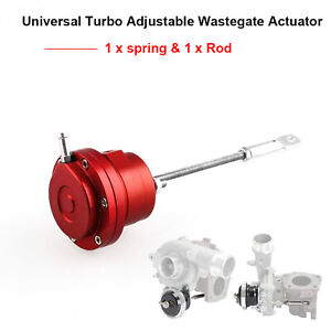 New Universal Turbo Adjustable Wastegate Actuator With 1 X Spring And 1 X Rod