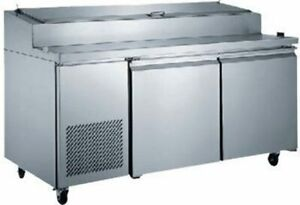 2 door Pizza Prep Table Refrigerated xpicl2 hc