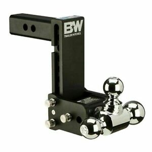Ts10049b B W Tow And Stow Hitch Ball Mount 7 Drop Tri Ball