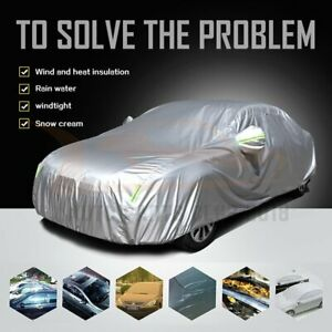 Large Size 485 180 120 Cm Polyester 190t Car Cover Protector Water Dust Proof