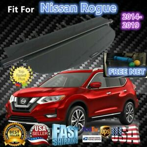 Fit For Nissan Rogue 2014 2019 Rear Trunk Cargo Luggage Cover Shield Cargo Cover