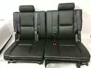 2013 Yukon Denali 3rd Row Split Folding Bench Leather Seat Assembly Black