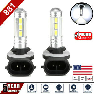 880 881 H27 Fog Driving Light Bulbs White Led High Power 160w 8600lm 2323