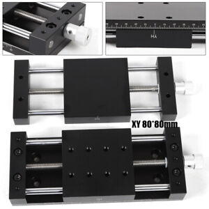 Manual Slide Table 80 80mm X Y Axis Stage Sliding Aluminum Alloy Load 78 4n Usa
