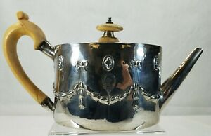 Antique 1786 English Georgian Sterling Silver Teapot Henry Chawner London