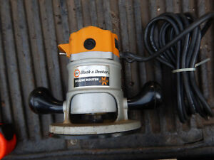 Older Usa Black And Decker 7616 Router Running With 1 4 Collet B