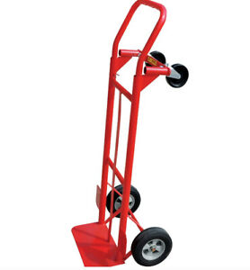 Hand Truck Cart Dolly Wheeled Convertible Luggage 600 Lb Moving Trolley 2 In 1