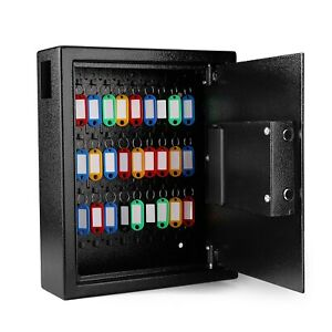 Key Cabinet Safe With Electronic Digital Lock Wall Mounted Business Office Home
