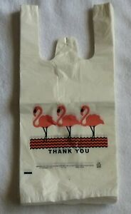 Lot 2000 White Thank you T shirt Plastic Shopping Large Bags Handles Jumbo