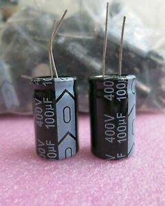 50 Pcs New Pack 100uf 400v Enercon Electrolytic Capacitor 100uf400v 105c