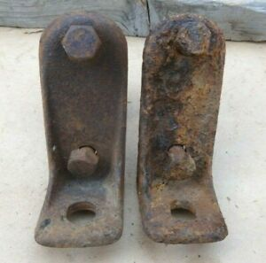 1928 1931 Model A Ford Aa Truck Front Upper Flat Bed Mounts Original Pair
