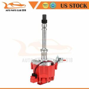 Hei Ignition Distributor With Red Cap 7500rpm For Chevy V8 350 Sbc 454 Bbc Gm08
