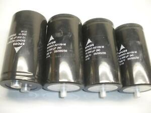 Lot Of 4 Epcos B43457 a2109 m 250v 10000 Uf Capacitor