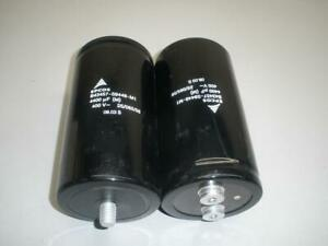 Lot Of 2 Epcos B43457 s9448 m1 400v 44000 Uf Capacitor
