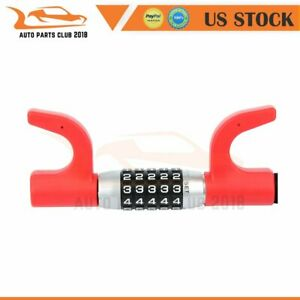 Extendable Combination Anti theft Security Steering Wheel Lock For Car Vehicle