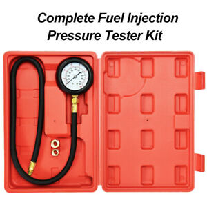 Fuel Oil Pressure Tester Gauge Engine Diagnostic Test With Adapters And Case