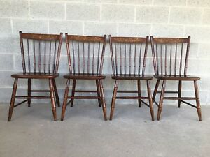 L Hitchcock Riverton Finish Prospect Side Chairs Set Of 4