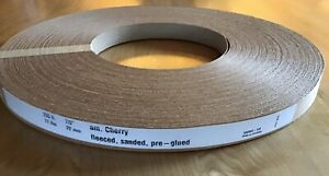 Wood Veneer Edgebanding Edge Tape Pre glued 7 8 X 250 Cherry