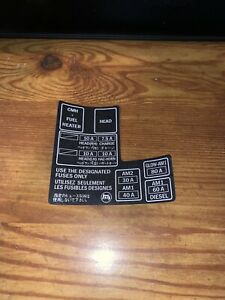 1984 1988 Toyota Pickup Truck 4runner Fuse Box 22r Re Decal Sticker Repro 10a Wt