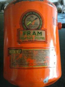 1939 1953 Plymouth Fram Oil Filter Canister Original Filcron Desoto 39 42 Dodge