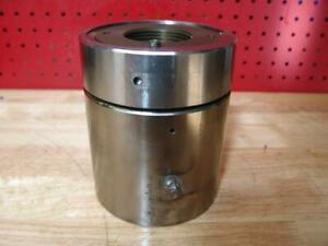 Enerpac Hydraulic Hollow Cylinder Nickel Plated 6 X 5 X 2 Hole 10 000 Psi