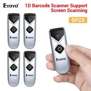 5x Eyoyo Portable Barcode Scanner 2 4g Wireless Bluetooth Reader For Iphone pc