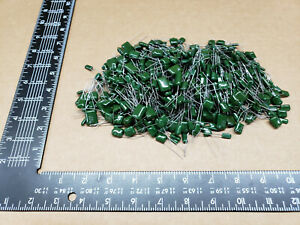500 Pcs Chicklet greenie Capacitor Grab Bag Assorted Values And Voltage
