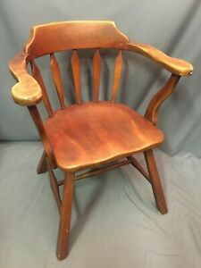 Cushman Colonial Solid Wood Arm Chair Made In Usa