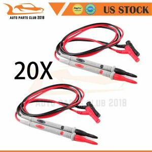 20 Lots Of Test Lead Probe Cable Multimeter With Banana Plug Us Shipping