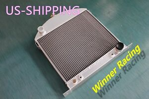 Top Selling Aluminum Radiator Fit Ford Model A Chopped W chevy Engine 1928 1931