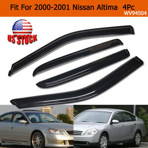 For 2000 2001 Nissan Altima Smoke Window Visors Sun Rain Wind Guards Deflectors