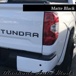 Matte Black Vinyl Tailgate Letters For Toyota Tundra 2014 2020 Decal Inserts