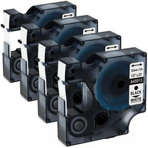 4 pk pack D1 Label Tape 45013 S0720530 For Dymo Labelmanager 160 280 420p