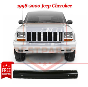 Front Bumper Painted Black For 1998 2000 Jeep Cherokee Us Or Canada Models