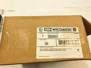 New Hubbell Wiegmann B060404ch Nema 12 Jic Box 6 x4 x4 Enclosure Best Price