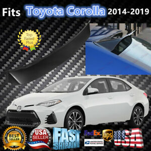 Fits Toyota Corolla 2014 2019 Glossy Black Rear Guard Window Visor Roof Spoiler