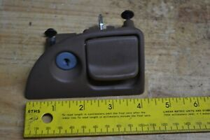 92 99 Pontiac Bonneville Glove Box Compartment Latch Handle Tan Oak Brown Lock