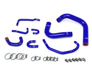 Hps Reinforced Blue Silicone Radiator Hose Kit Coolant For Toyota 89 95 Pickup