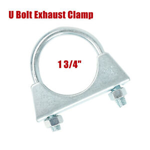 1pc 1 3 4 Exhaust Clamp U Bolt Muffler Saddle Style For 1 75 Pipe 5 16 Rod
